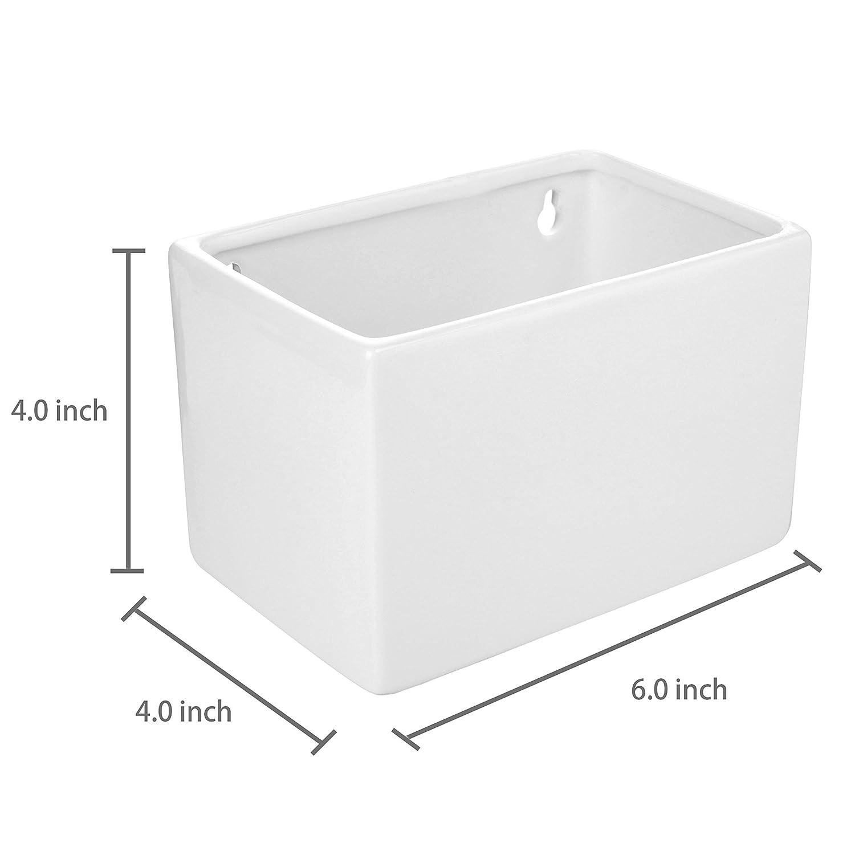 Box 4/St/ück MyGift Modern wei/ß Keramik Wand aufh/ängen des frischen /& Kr/äutertopf