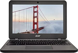 Acer Chromebook 11 N7 Laptop Computer, High Definition Touchscreen Display, Intel Dual-Core Processor, 16GB Solid State Drive, 4GB RAM, 16GB Flash Drive, Chrome OS, HDMI, Webcam, WiFi (Renewed)
