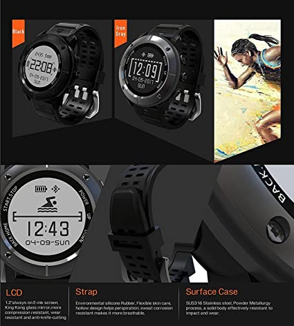Amazon.com: Sport Smart Watch High Precision GPS Waterproof Sports Watch Mens and Womens GP Decathlon Swim Altimeter with Heart Rate Monitor / sos ...