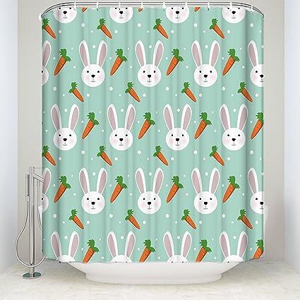 Amazon.com: Shower Curtain,3D Digital Print Bathroom Curtains Easter ...