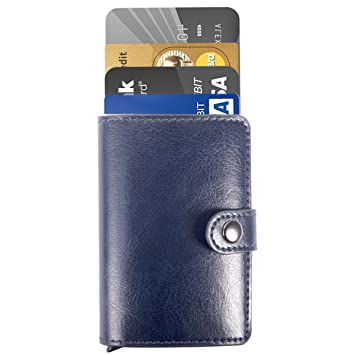 Manchda rfid blocking credit business card holder aluminum pop up manchda rfid blocking credit business card holder aluminum pop up card case men pocket money reheart Choice Image