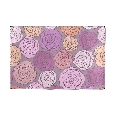 Amazon.com: Top Carpenter - Alfombra con diseño de rosas (36 ...