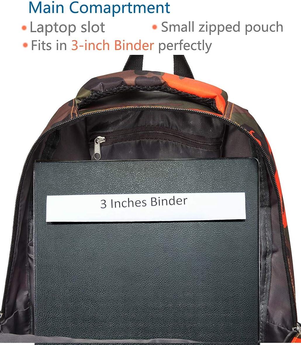 Kids Backpacks for Boys Camouflage Elementary School Bags Bookbags Lightweight Durable Camo Orange