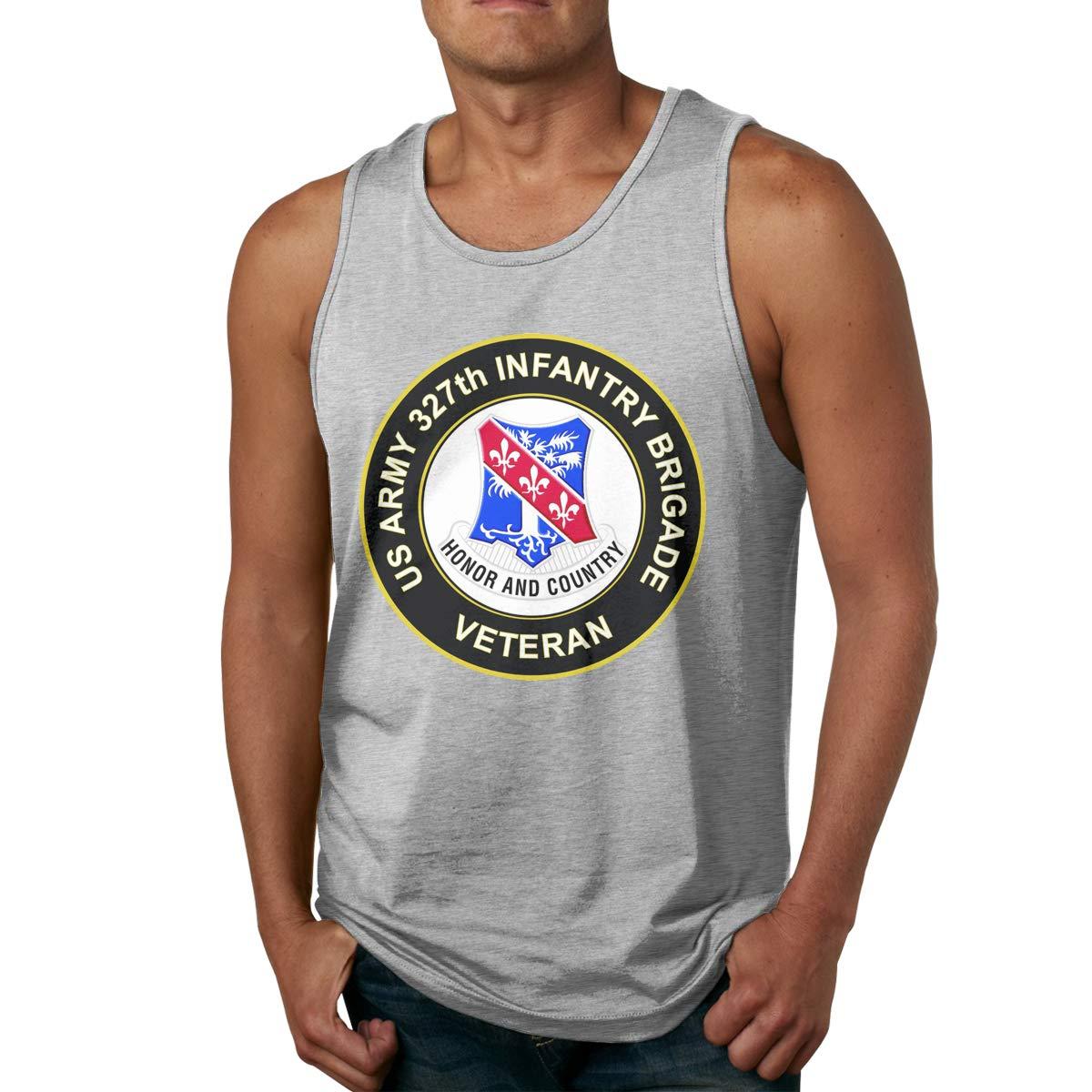Army 327th Infantry Brigade Veteran Mens Undershirts Tank Tops U.S