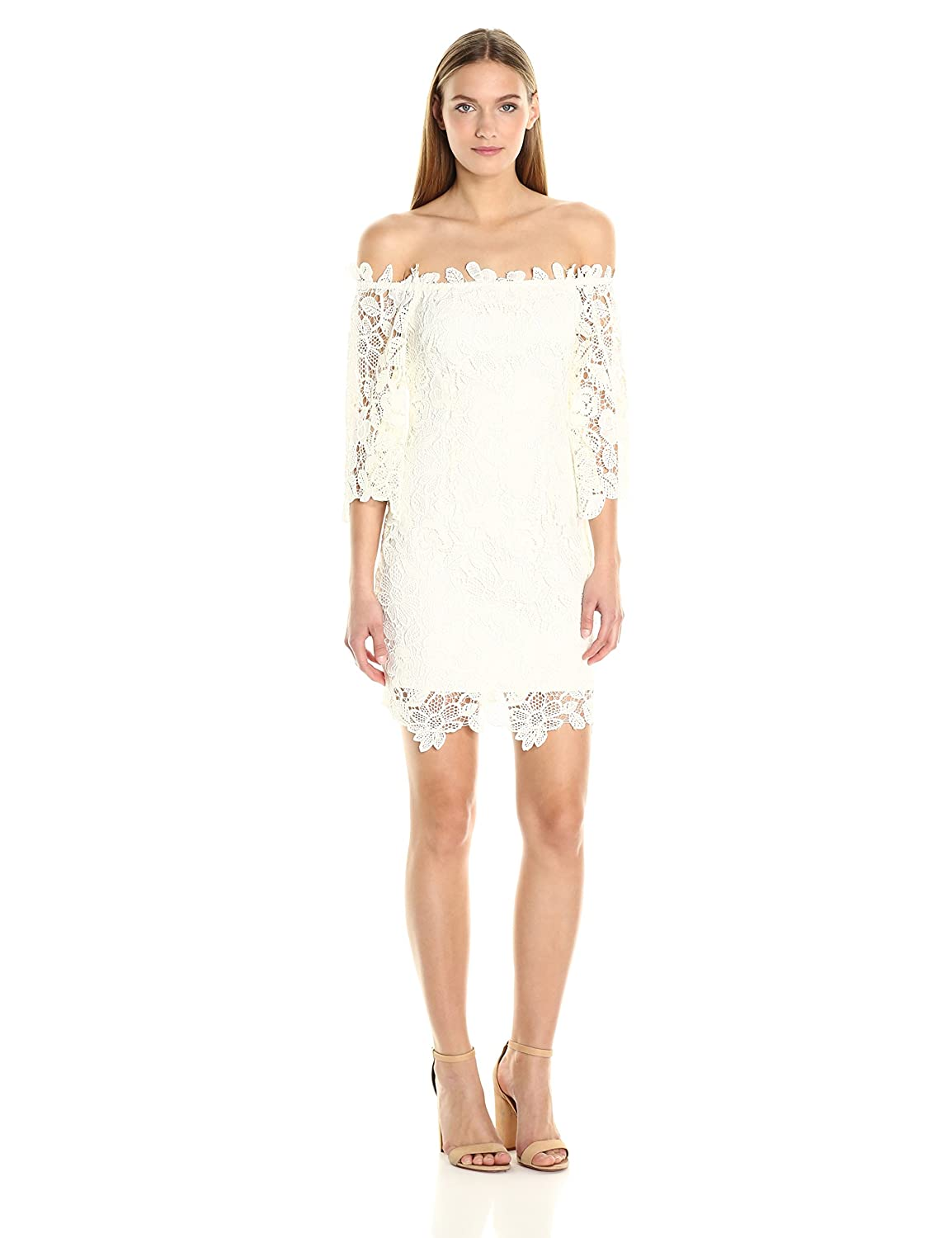 b8e0d34ab30 ASTR Women's Madeline Lace Off the Shoulder Dress at Amazon Women's  Clothing store: