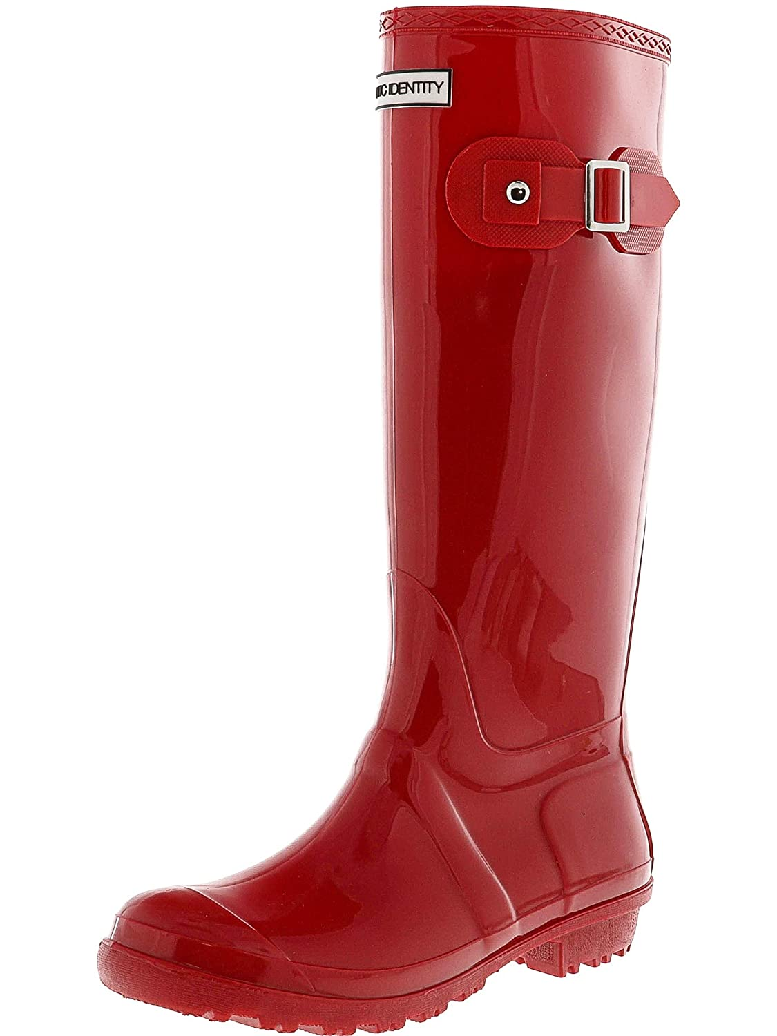 Gloss Red Exotic Identity Original Tall Rain Boots