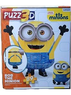 puzz3d bob the minion 3d foam backed puzzle