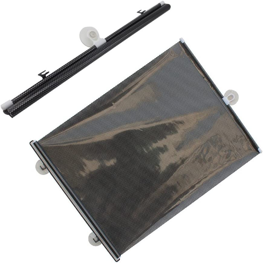 40x60CM VORCOOL 2 PCS Universal Retractable Car Vehicle Curtains Window Roller Sun Shades Blind Protectors Black