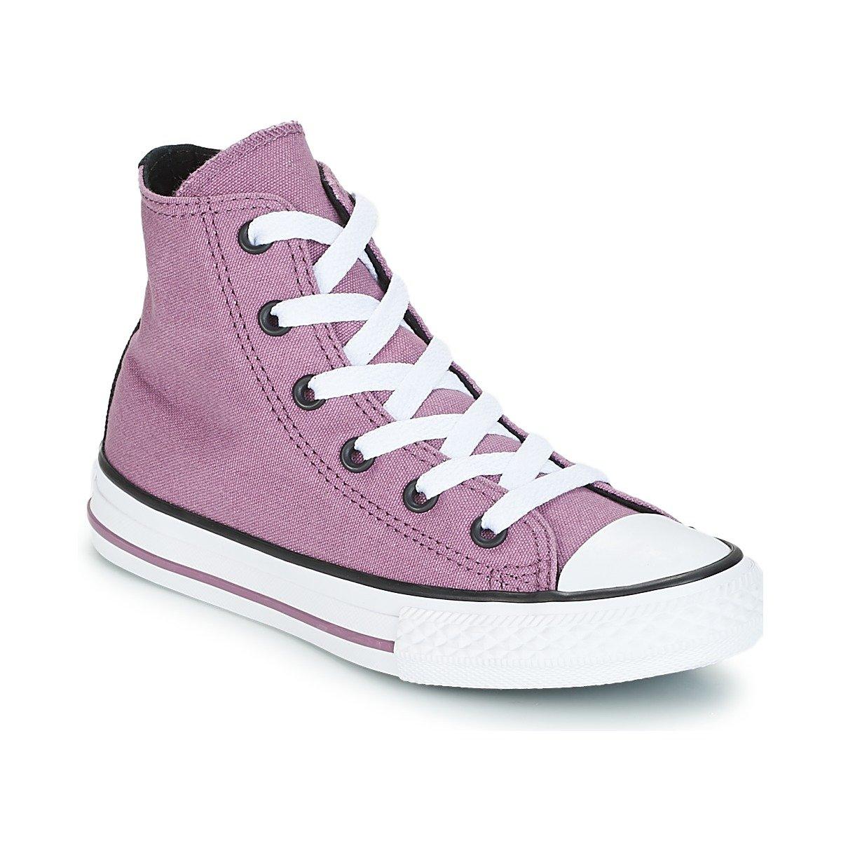 MultiCouleure (Violet Dust noir blanc 599) Converse CTAS Hi, Chaussures de Fitness Mixte Enfant 31 EU