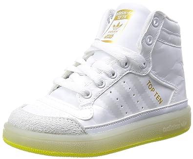 sports shoes fb69b d2bfc adidas Originals Infant Boys Top Ten Hi Star Wars Yoda Trainers (Infants UK  7.5)
