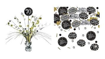 Feste Feiern Geburtstagsdeko Zum 70 Geburtstag I 2 Teile All In One