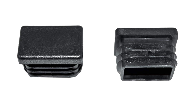 30x20mm Farbe: Schwarz SN-TEC Rohrstopfen//Fu/ßkappe // Pfostenkappe//Lamellenstopfen f/ür Vierkantrohr 10 St/ück