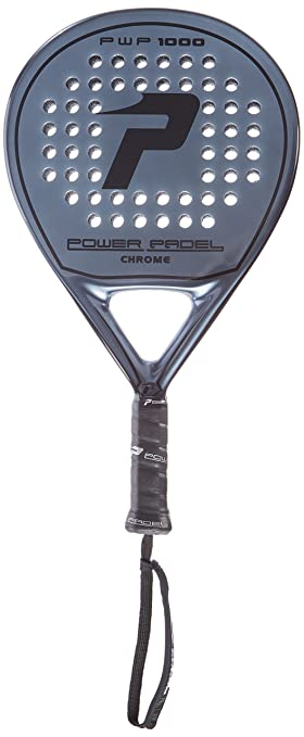 POWER PADEL 1000 Chrome Pala, Unisex Adulto, Negro, 38 mm: Amazon.es: Deportes y aire libre