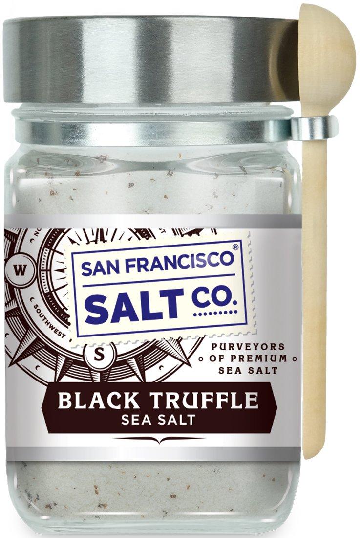 8 oz. Chef's Jar - Authentic Italian Black Truffle Gourmet Sea Salt by San Francisco Salt Company (Image #1)