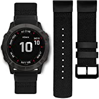 Abanen Nylon Watch Band for Garmin Fenix 6X/Fenix 5X, 26mm QuickFit Woven Soft Nylon Quick Dry Wristband Strap for…