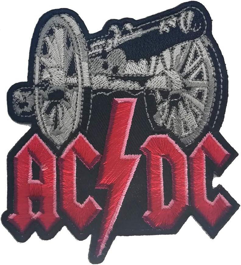 /Écusson thermocollant Patch AC//DC Logo Heavy Metal Rock Band 6,5/cm//6,5/cm
