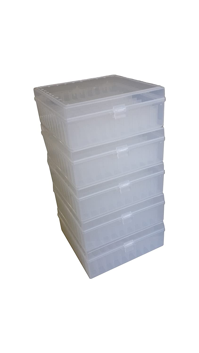 Argos R3125 Translucent Polypropylene 100 Place Microcentrifuge Tube Cryogenic Storage Box with Natural Lid for 0.5, 1.5 and 2.0mL Microcentrifuge Tubes (Pack of 5) Thomas Scientific ARG-R3125