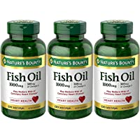 Nature's Bounty Fish Oil 1000 mg Omega-3, 220 Odorless Softgels (Pack of 3)
