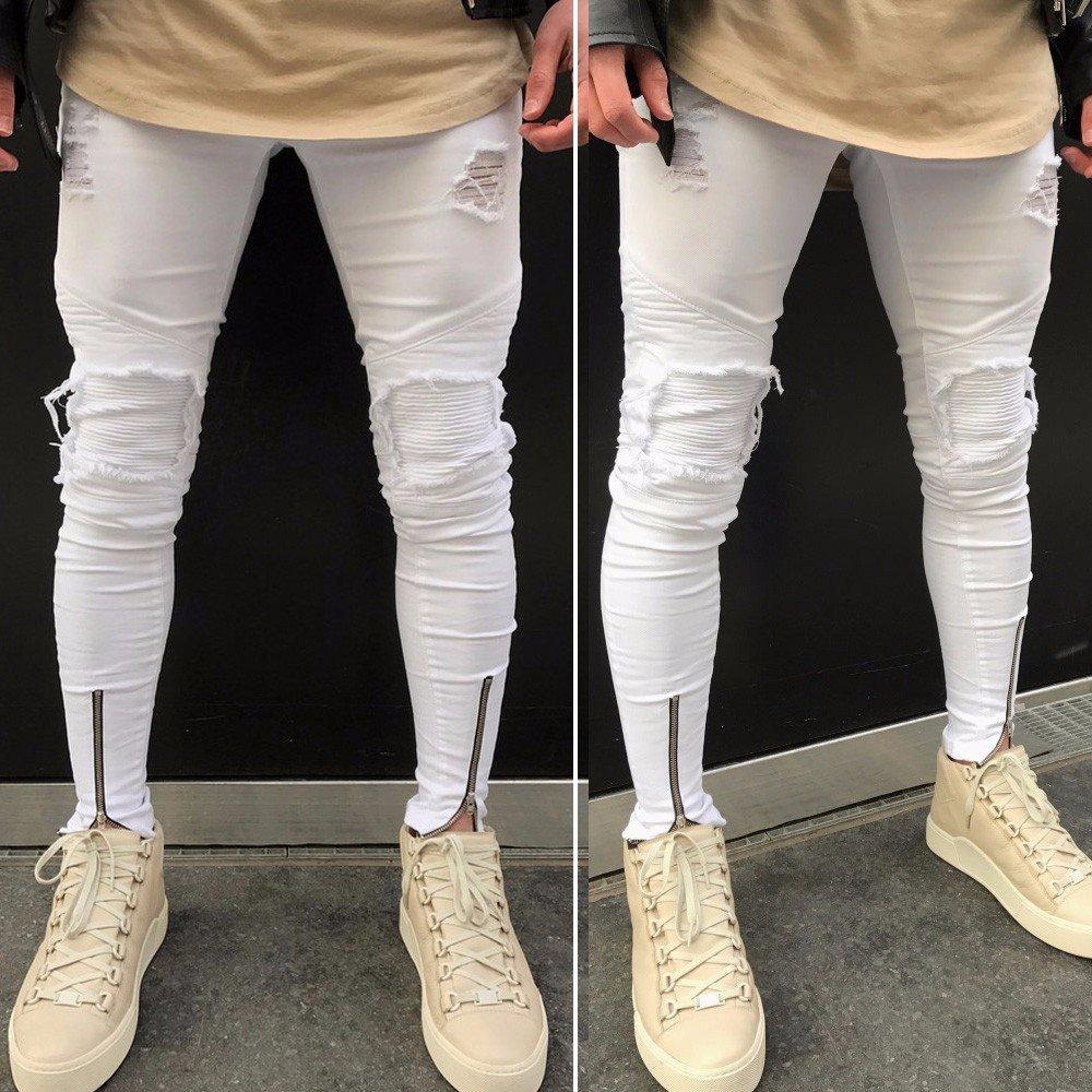 Pantalones Vaqueros para Hombre Slim Fit Pantalones Motorcycle Vintage Denim Jeans Hiphop Casual y Moderno, Laborales,Casuales