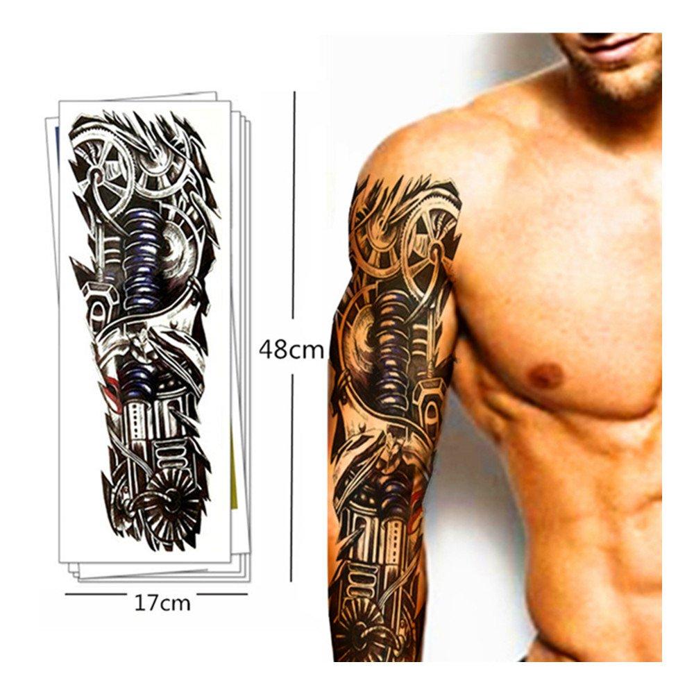 Pinkiou 6 Sheets tatuaje pegatina para hombres Mujeres brazo ...