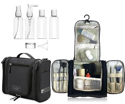 Neceser para colgar Viaje Bolsa Aseo Bolso Tocador, botellas viaje | Organizador Accesorios de Baño de Cosméticos Afeitado, Kit y líquidos | Aprobadas ...