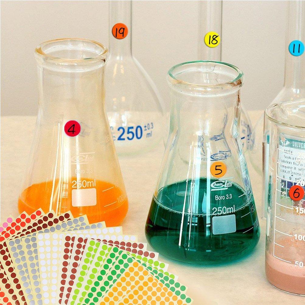 YOTINO 28 Bl/ätter Klebepunkte bunt Etiketten Markierungspunkte /Ø 8mm Sticker 7280 Punkte 14 Farben runde Punktaufkleber Set