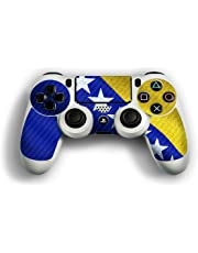 atFoliX Designfolie kompatibel mit Sony Playstation 4 Controller Bosnien Flagge Skin Aufkleber