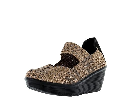 Bernie Mev Womens Lulia Casual Wedge Shoes,Bronze,38