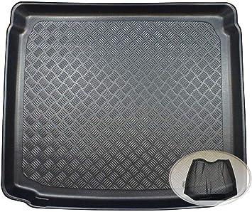 Zentimex Z3350652 Geriffelte Kofferraumwanne Fahrzeugspezifisch Klett Organizer Laderaumwanne Kofferraummatte Auto