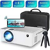 Proyector WiFi FANGOR 1080P Nativo HD Proyector Vídeo 5500 Lumens portátil Bluetooth Proyector Cine en casa Proyector…