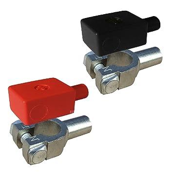 2Pcs Aluminium Positive /& Nagative Autobatterieklemme Anschlussklemme st