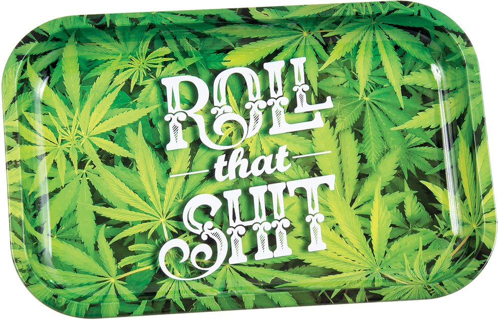 Roll That Shit Metal Rolling Tray - 7.5'' x 11.25''