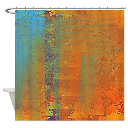 Amazon CafePress Abstract In Aqua Copper And Gold Decorative