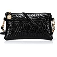 PU Leather Cross Body Shoulder Bag with Crocodile Pattern for Ladies and Girls