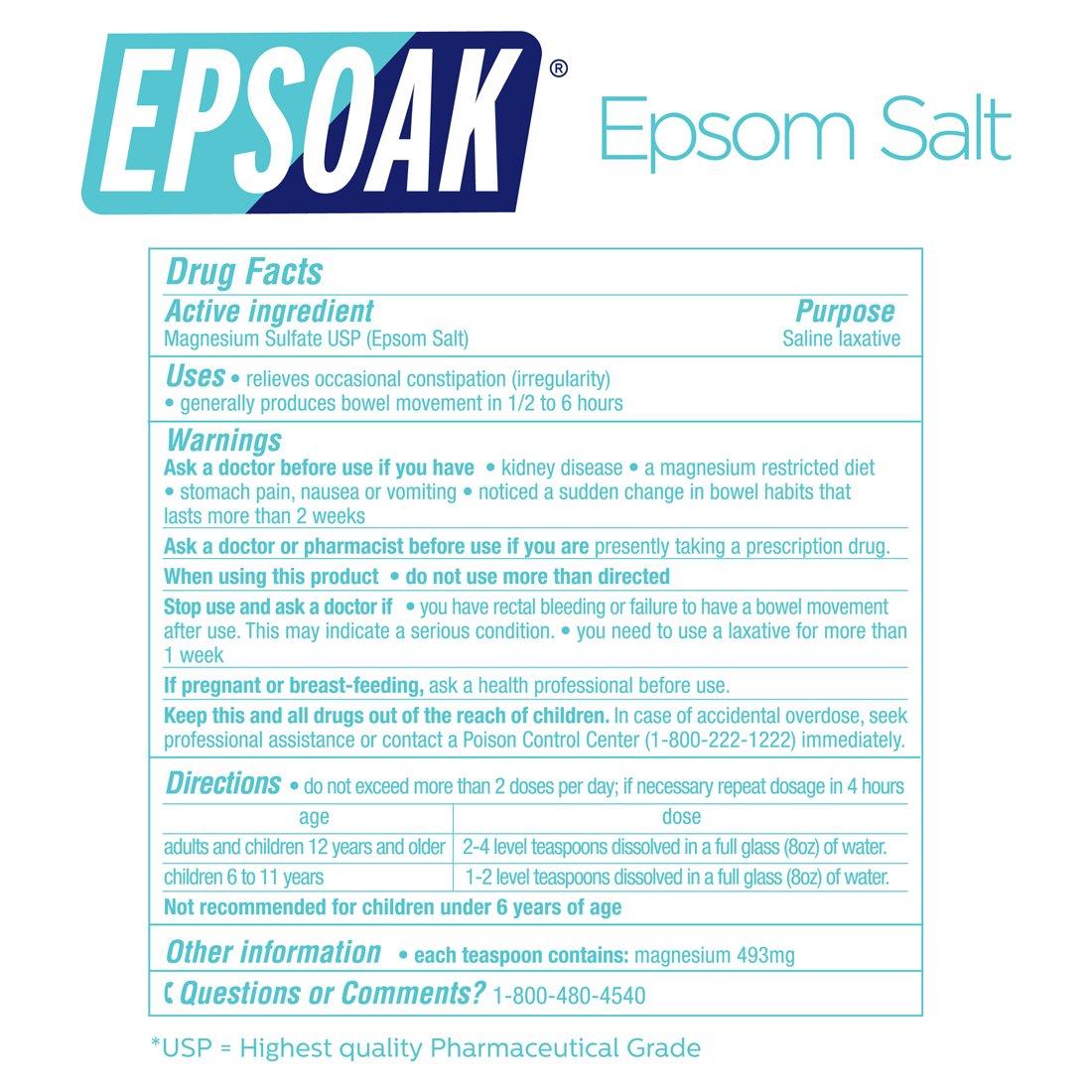 Epsoak Epsom Salt 5 lbs. Magnesium Sulfate USP by Epsoak (Image #8)
