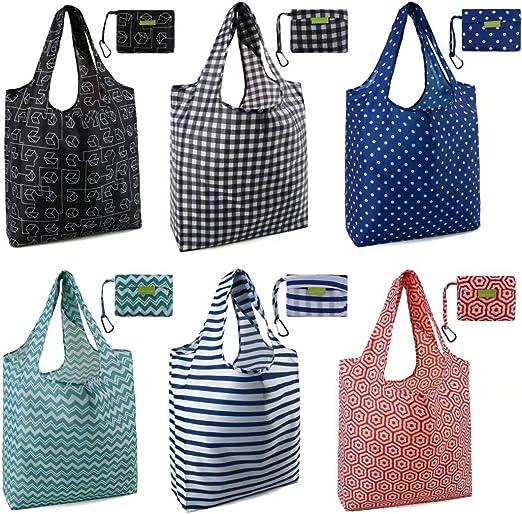 Useful Foldable Reusable Roll Up Bag Eco Shoulder Shopping Handbag Fold Pouch