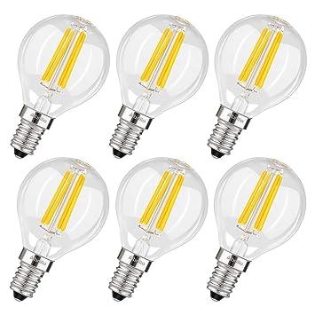 Albrillo Bombilla LED E14 de 4W Blanco Cálido 2700k, Equivalente a 40W, 360 °Ángulo de la Luz: Amazon.es: Iluminación