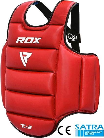 RDX TKD Plastron de Boxe Protection MMA Pro Advance Corps Chest Protector Garde Armour Petit(Réversible)