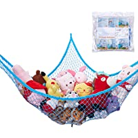 "Stuffed Animal Hammock, Jumbo Toy Storage Hammock Net KoHuiJoo 70"" Wall Sling Corner Extra Large Kids Children Mesh Toy…"