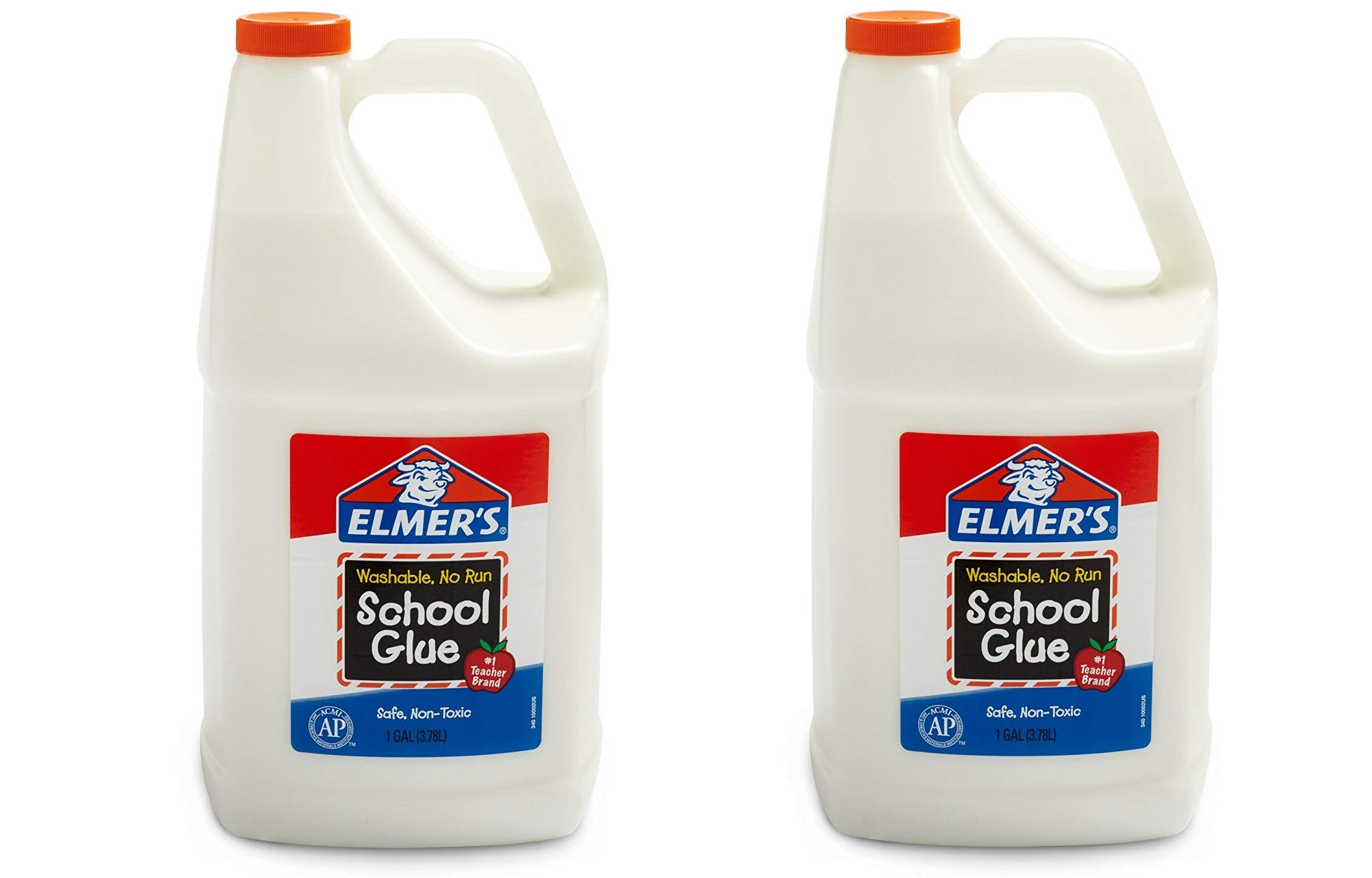 Elmers Liquid School Glue Washable - Great For Making Slime, 2 Pack (1 Gallon)