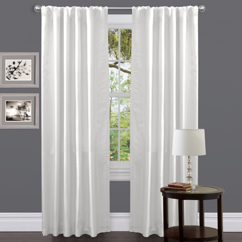 White curtains - Amazon Com Lush Decor Venetian Curtain Panel White 54 X 84 Home Kitchen