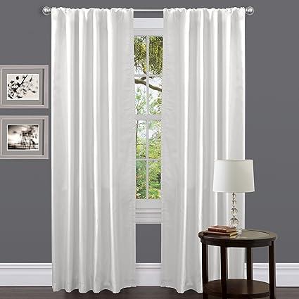 Amazing Lush Decor Venetian Curtain Panel, White, 54u0026quot; ...