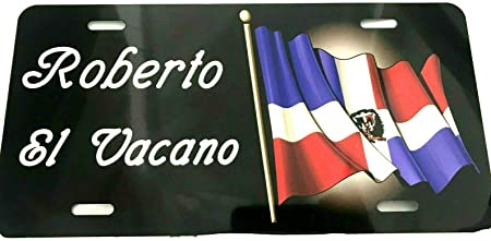 Dominican Republic Flag Photo License Plate Free Personalization on this plate