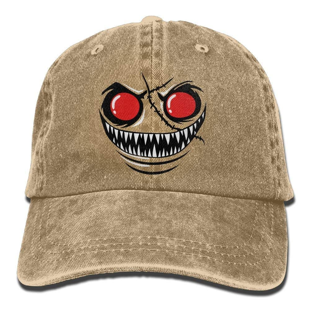 ruishandianqi Gorras béisbol Monster Face with Red Eyes Denim Hat ...