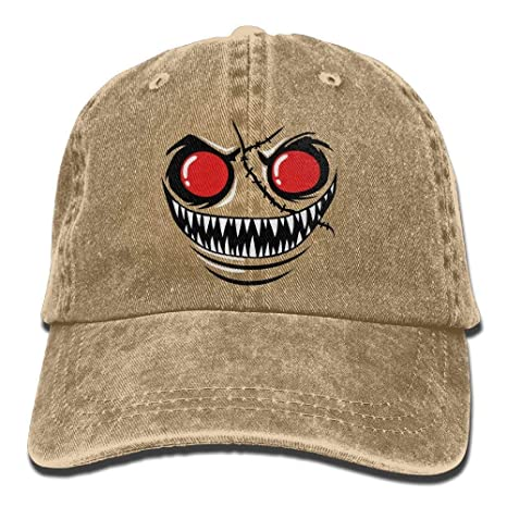 ruishandianqi Gorras béisbol Monster Face with Red Eyes Denim Hat ...