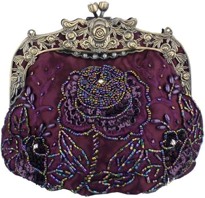 Women's Vintage Beaded Handbag