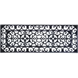 Ehc Extra Large Victorian Wrought Iron Effect Outoor Or Indoor Non Slip Rubber Door Mat - 120cm x 45cm•