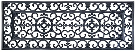 EHC Extra Large Victorian Wrought Iron Effect Outoor Or Indoor Non Slip  Rubber Door Mat