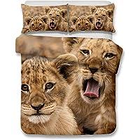 Helengili 3D Digital Printing Bedding Set Lion Leo Bedding Bedclothes Duvet Cover Sets Bedlinen 100 Percent Microfiber Present