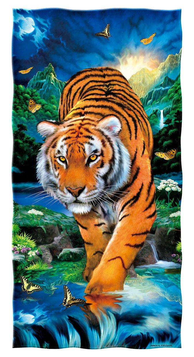 Dawhud Direct Moonlight Tiger Cotton Beach Towel DH-404